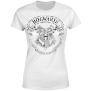 Harry Potter Hogwarts Crest Women's T-Shirt - White