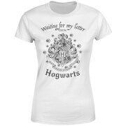 Harry Potter Waiting For My Letter From Hogwarts Damen T-Shirt - Weiß