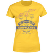 T-Shirt Femme Quidditch à Poudlard - Harry Potter - Jaune