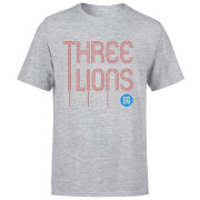 Three Lions Men's T-Shirt - Grey