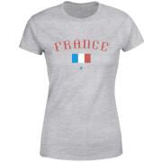 T-Shirt Femme Équipe de France et Drapeau Football - Gris