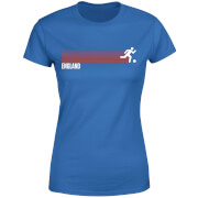 T-Shirt Femme Équipe Anglaise Football - Bleu Roi