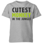 My Little Rascal Cutest Monkey In The Jungle Kids' T-Shirt - Grey
