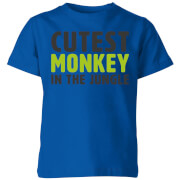 My Little Rascal Cutest Monkey In The Jungle Kids' T-Shirt - Royal Blue