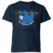 My Little Rascal Eat Sleep Eat Repeat Kids' T-Shirt - Navy
