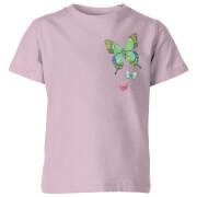 My Little Rascal Pocket Butterflies Kids' T-Shirt - Baby Pink