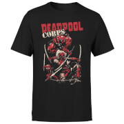 T-Shirt Homme Deadpool Family Corps Marvel - Noir