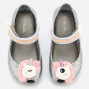 Mini Melissa Toddlers' Ultragirl Unicorn 20 Ballet Flats - Silver Glitter