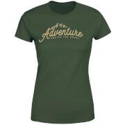 Adventure Awaits The Brave Women's T-Shirt - Forest Green