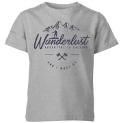 Wanderlust Kids' T-Shirt - Grey