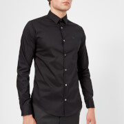 Emporio Armani Men's Small Logo Long Sleeve Shirt - Nero