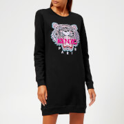 KENZO Women's Classic Tiger Molleton Sweatshirt Dress - Black