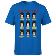 Bobs Burgers The Many Faces Of Tina Men's T-Shirt - Royal Blue
