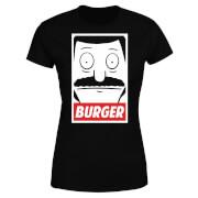 Bob's Burgers Propaganda Bob Burger Damen T-Shirt - Schwarz