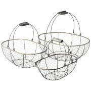 Parlane Chicken Wire Baskets Set Of 3