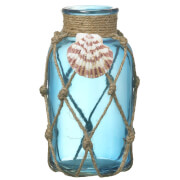 Parlane Seashell Blue Glass Vase
