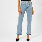 Helmut Lang Women's New Crop Straight Leg Jeans - Speckled Marble
