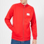 Calvin Klein Jeans Men's Track Zip Through Jacket - Tomato