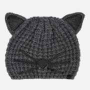 Karl Lagerfeld Women's Choupette Luxury Beanie - Grey