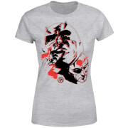 Marvel Knights Daredevil Layered Faces Women's T-Shirt - Grey