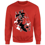 Marvel Knights Daredevil Layered Faces Sweatshirt - Red