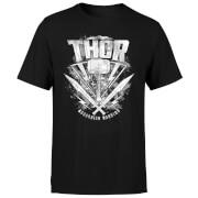Marvel Thor Ragnarok Thor Hammer Logo Men's T-Shirt - Black