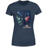 Marvel Thor Ragnarok Hulk Split Face Damen T-Shirt - Navy Blau