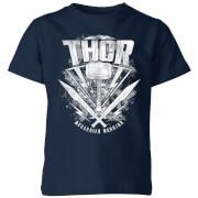 Marvel Thor Ragnarok Thor Hammer Logo Kinder T-Shirt - Navy Blau