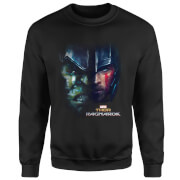 Marvel Thor Ragnarok Hulk Split Face Sweatshirt - Black