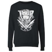 Sudadera Marvel Thor Ragnarok Martillo de Thor - Mujer - Negro
