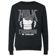 Marvel Thor Ragnarok Hulk Champion Women's Sweatshirt - Black