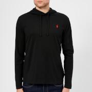 Polo Ralph Lauren Men's Hooded Long Sleeve T-Shirt - RL Black