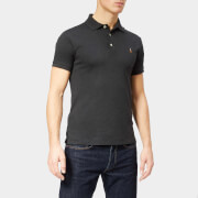 Polo Ralph Lauren Men's Pima Short Sleeve Polo Shirt - Dark Granite Heather