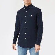 Polo Ralph Lauren Men's Pique Long Sleeve Shirt - Aviator Navy