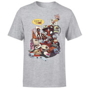 Marvel Deadpool Merchandise Royalties Men's T-Shirt - Grey