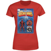 T-Shirt Femme Deadpool Figurine Secret Wars Marvel - Rouge