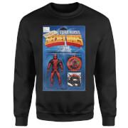 Marvel Deadpool Secret Wars Action Figure Pullover - Schwarz