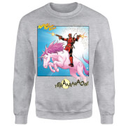 Marvel Deadpool Unicorn Battle Pullover - Grau