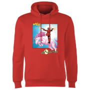 Marvel Deadpool Unicorn Battle Hoodie - Rot