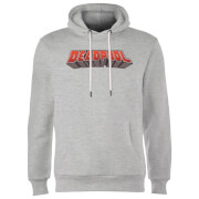 Sweat à Capuche Homme Logo Deadpool Marvel - Gris