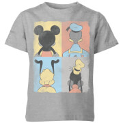 Disney Mickey Donald Pluto & Goofy Kinder T-Shirt - Grijs