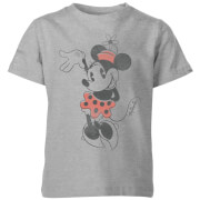 Disney Minnie Mouse Waving Kids' T-Shirt - Grey