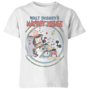Disney Retro Poster Piano Kids' T-Shirt - White