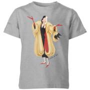 T-Shirt Enfant Disney Cruella D'Enfer 101 Dalmatiens - Gris