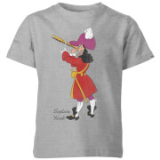 Disney Peter Pan Captain Hook Classic Kids' T-Shirt - Grey