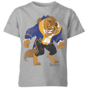 Disney Beauty And The Beast Classic Kids' T-Shirt - Grey