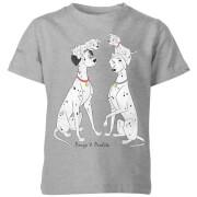 Disney 101 Dalmatians Pongo & Perdita Classic Kids' T-Shirt - Grey