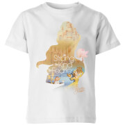 Disney Princess Filled Silhouette Belle Kids' T-Shirt - White