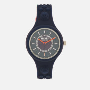 Versus Versace Men's Fire Island Bicolor Silicone Watch - Navy/Red