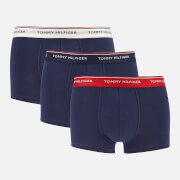 Tommy Hilfiger Men's 3 Pack Low Rise Trunks - Multi/Peacoat